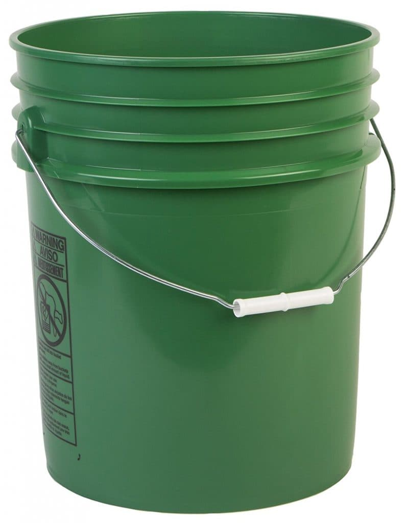 5 gallon bucket how to get rid og dog poop in back yard