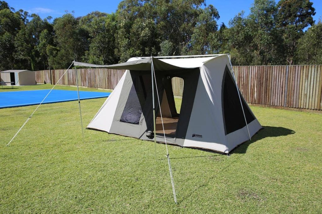 kodaik canvas 8 person tent great for camping with your dog