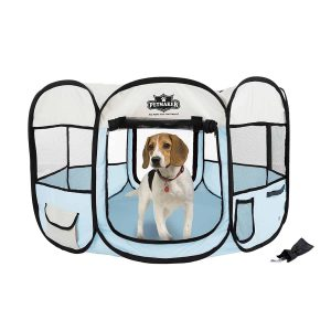 portable lightweight outdoor dog play pen traveling dog pen