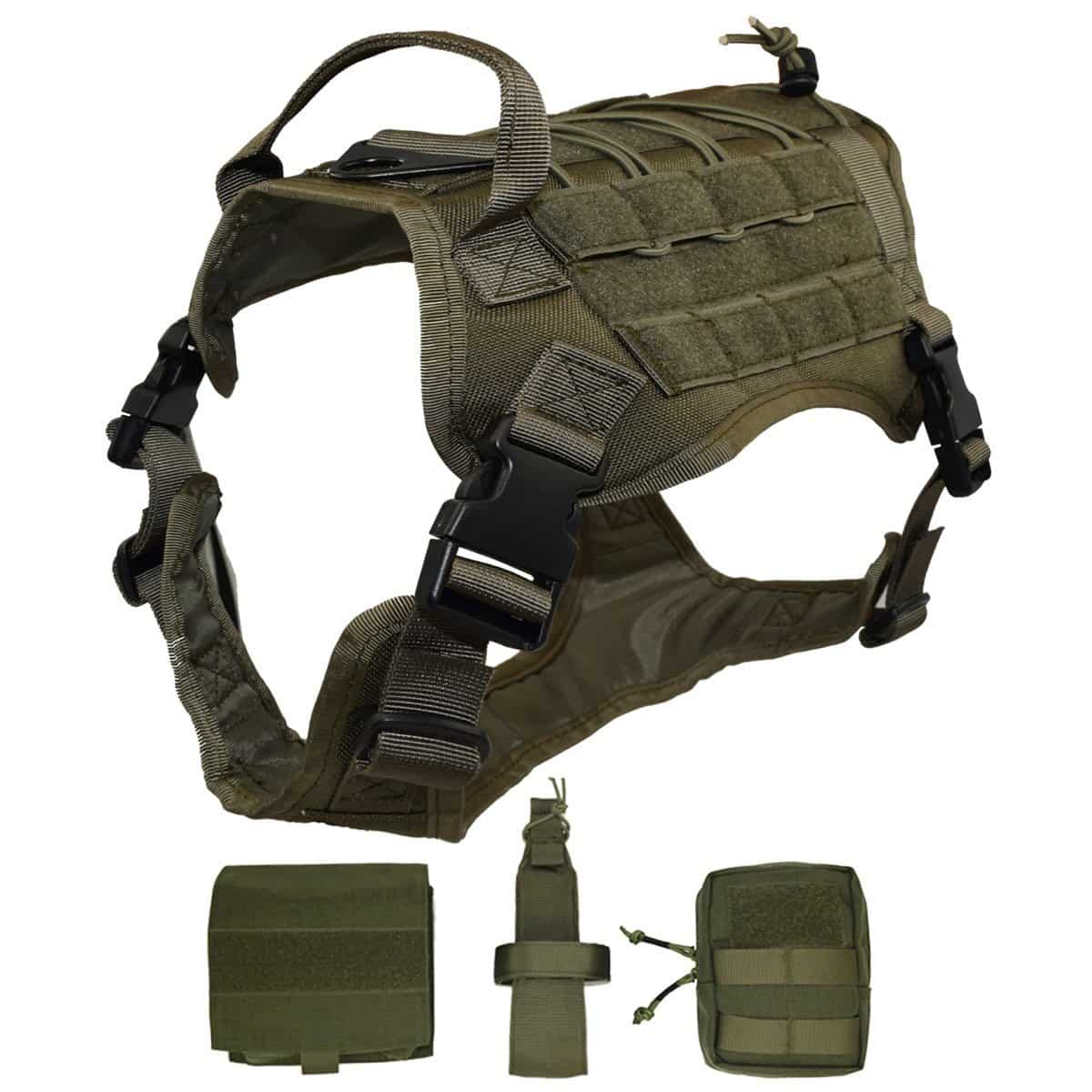 Ultrafun tactical dog vest with molle gear review