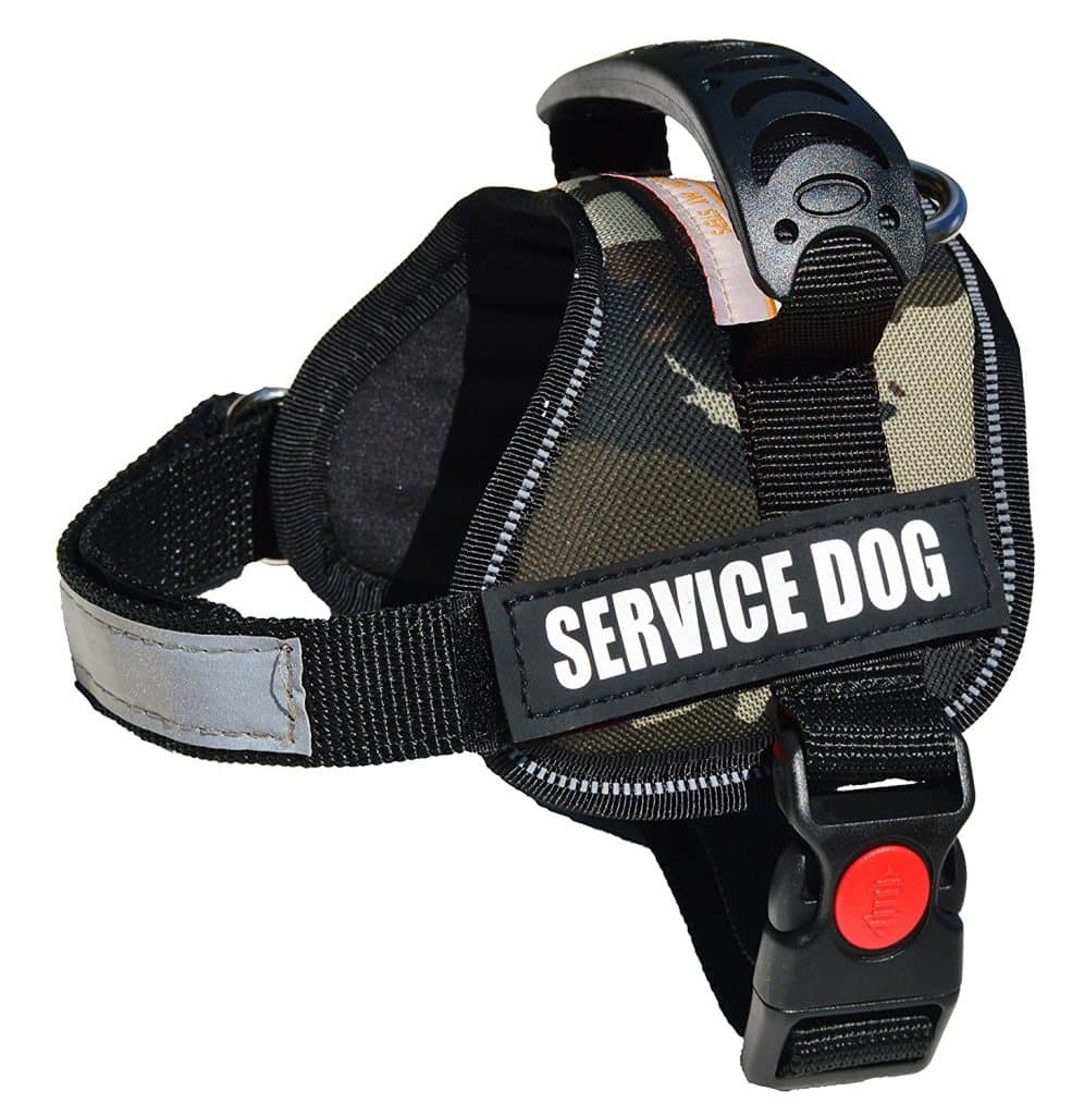 albcorp reflective service dog harness