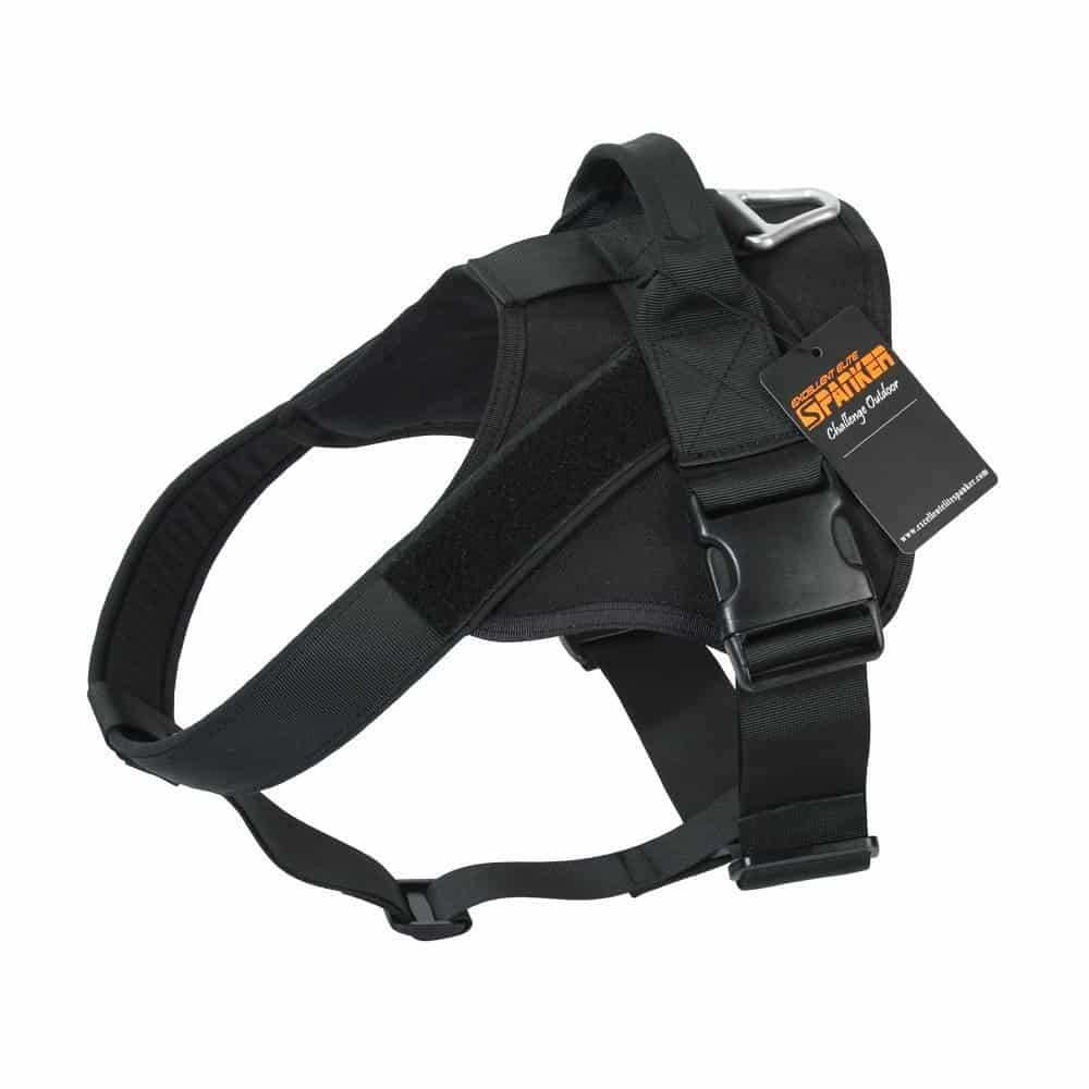 elite spanker tactical dog vest black
