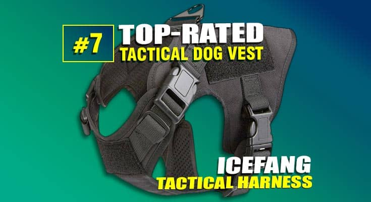 icefang tactical dog vest harness #7