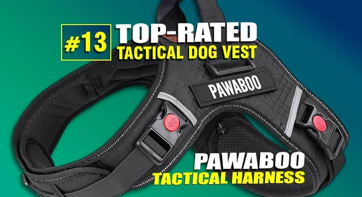 pawaboo tactical dog vest harness best #13