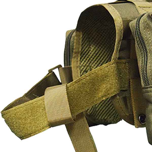 tactical dog vest velcro front strap