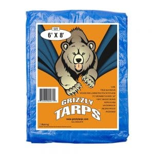 taking puppy camping tarp to protect the floor of your tent