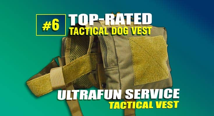 ultrafun service tactical dog vest #6