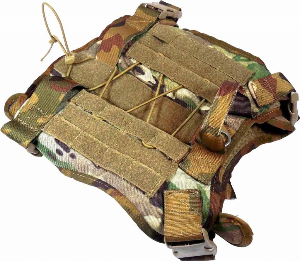 Elite-Spanker-Tactical-Dog-Vest-Camo top view