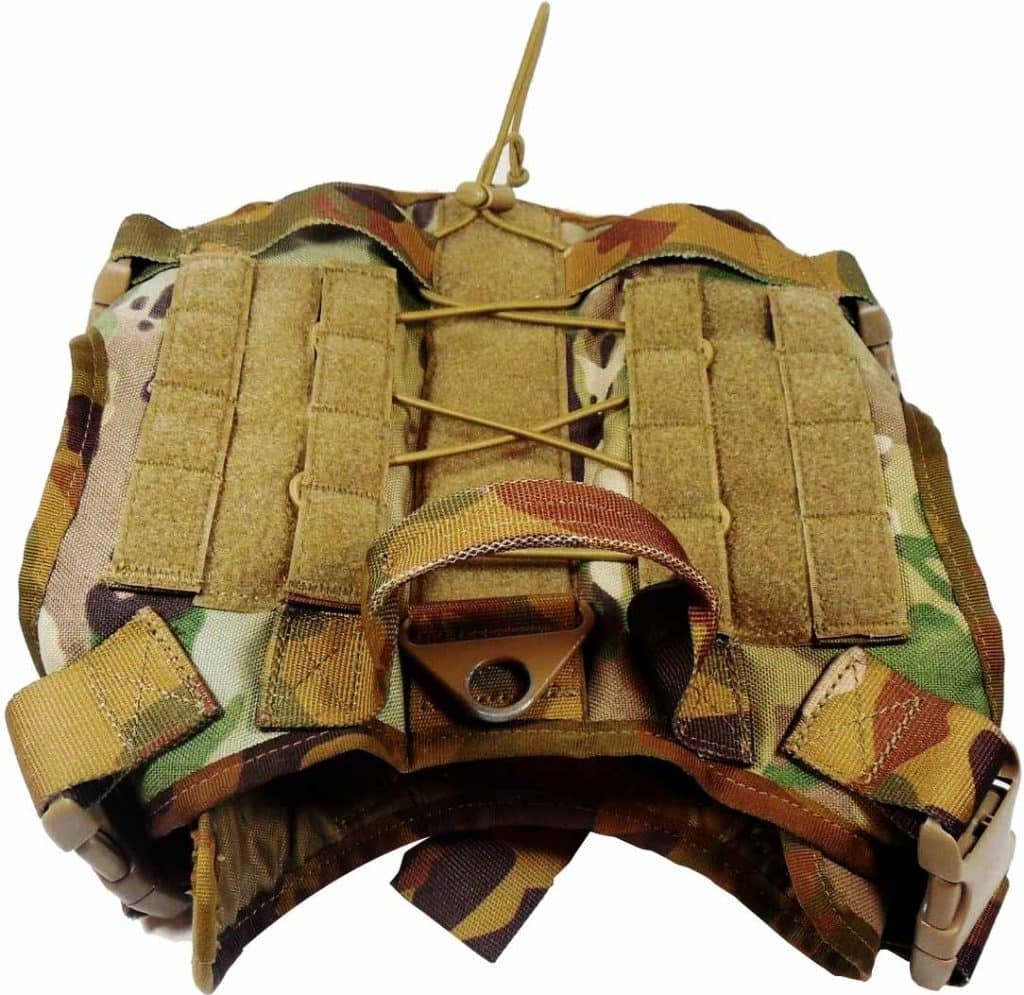 feliscanis tactical dog harness top view with handle velcro