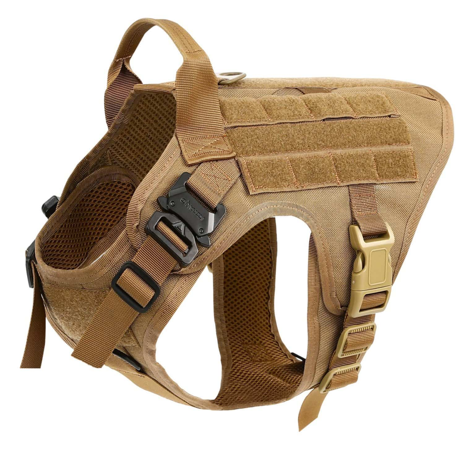 icefang best tactical dog vest unbreakable front buckle