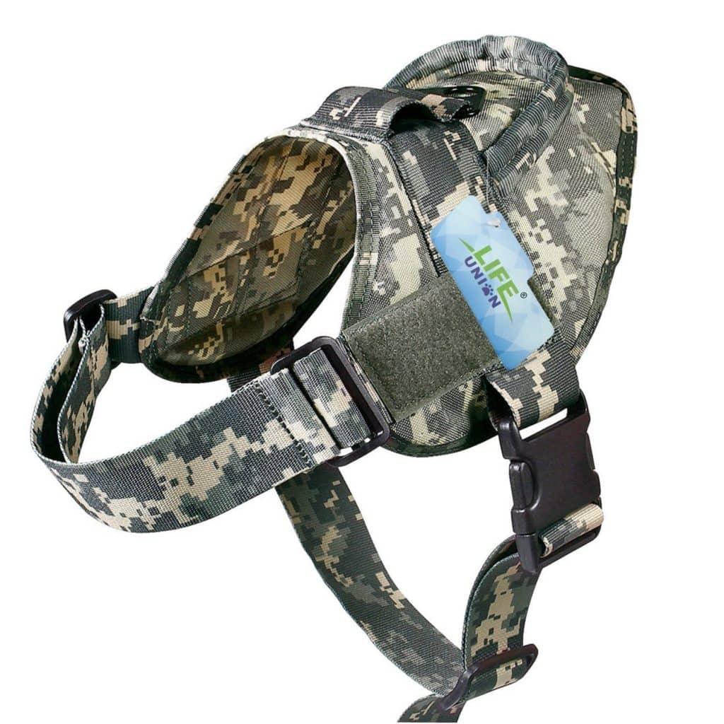 lifunion patrol tactical dog vest front camo
