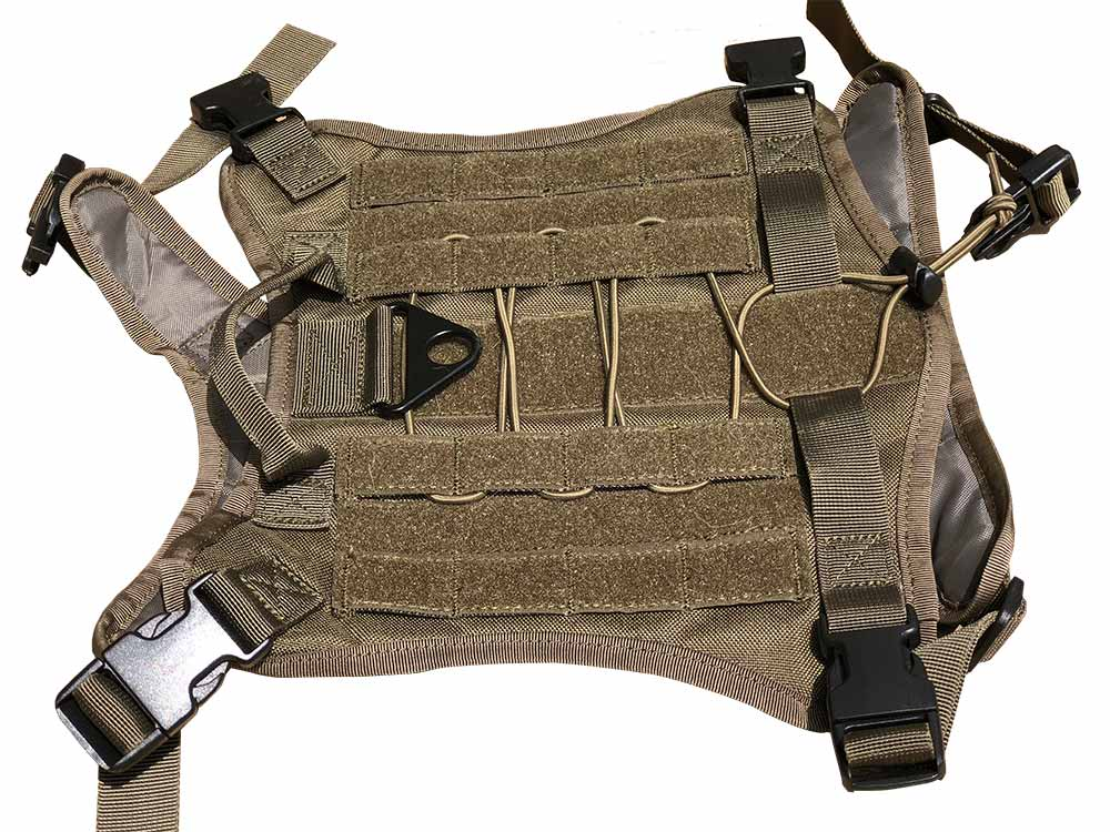 Pettom service tactical dog harness top view Service Tactical Dog Harness