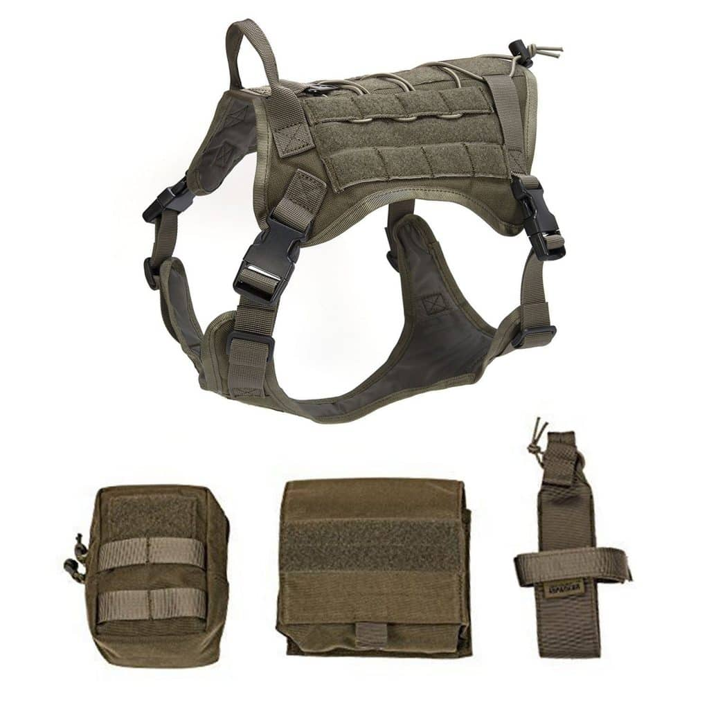 Pettom tactical dog vest harness